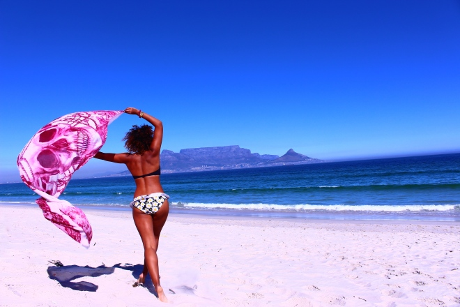 Sun, sea, sand, scarf